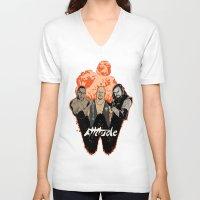 wrestling V-neck T-shirts featuring Attitude Wrestling  by RJ Artworks