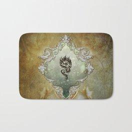 Wonderful tribal dragon on vintage background Bath Mat