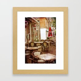 Sunday morning in the town Framed Art Print