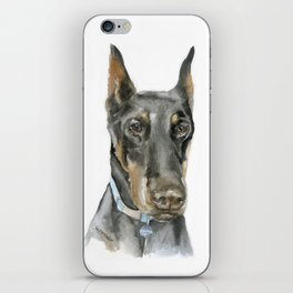 Doberman Watercolor Painting iPhone Skin