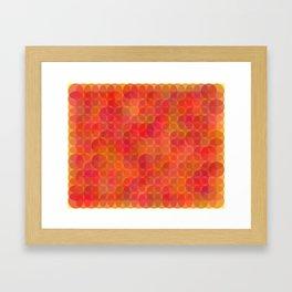 Stained Glass Sunrise Framed Art Print