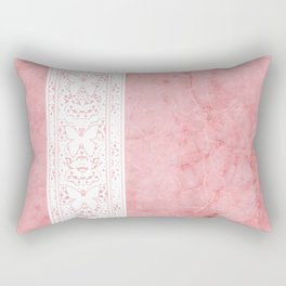 Delicate White Stripe Butterfly Pattern Pink Texure Design Rectangular Pillow