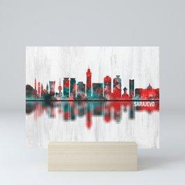 Sarajevo Bosnia and Herzegovina Skyline Mini Art Print