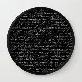 Literary Giants Pattern Wall Clock