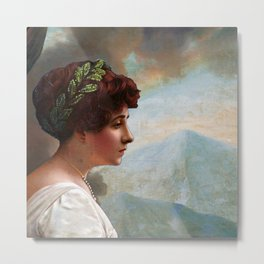 Escaping out of Pompeii Metal Print