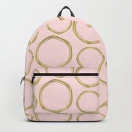 Blush Pink & Gold Circles Backpack
