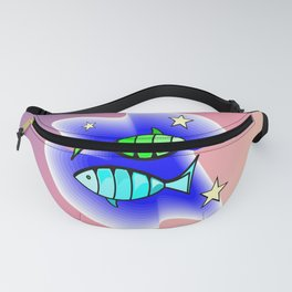 Astrology, fish Fanny Pack