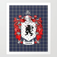Edwards Crest and Tartan Art Print