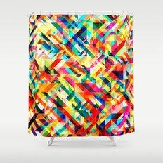 Summertime Geometric Shower Curtain