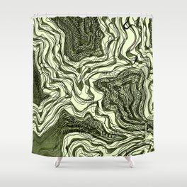 Ink River - Green edition Shower Curtain