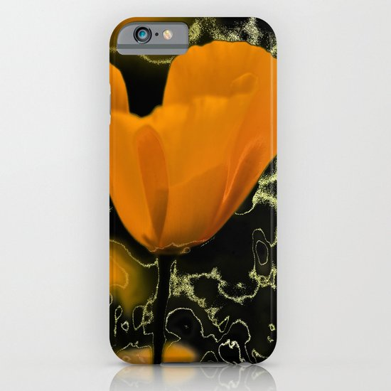 Orange poppy with abstract iPhone & iPod Case