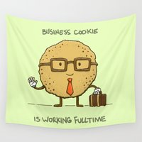 cookie Wall Tapestries featuring Fulltime Cookie by Nick Volkert