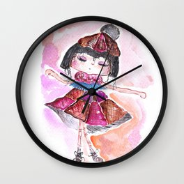Sweet Little Dancing Girl Wall Clock