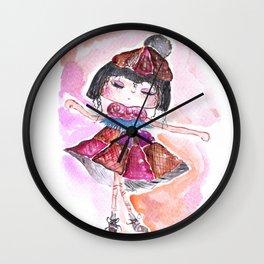 Sweet Little Dancing Girl Wall Clock