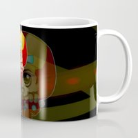 tony stark Mugs featuring Tony Stark - Iron Hooded by Kapika Arts
