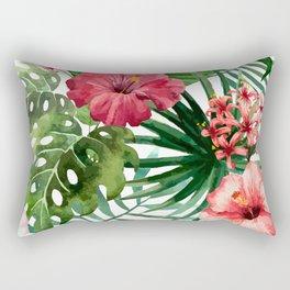 FLOWERS WATERCOLOR 8 Rectangular Pillow