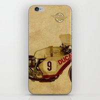 ducati iPhone & iPod Skins featuring Ducati Number 9 by Larsson Stevensem