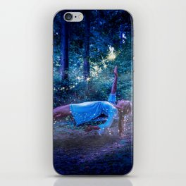 Woman Floating In Nature iPhone Skin