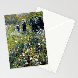 """Auguste Renoir """"Femme avec parasol dans un jardin"""" Stationery Cards"""