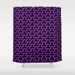 Impossible Purple Triangles Shower Curtain