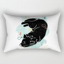 Dreaming wolf illustration Rectangular Pillow