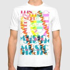 NEEDMusic MEDIUM White Mens Fitted Tee