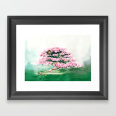 Pink Bonsai Framed Art Print