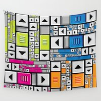 popart Wall Tapestries featuring ScrollBar PopArt by Roberlan Borges