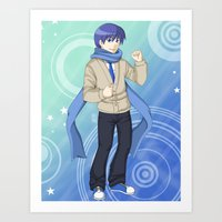 vocaloid Art Prints featuring Kaito - VOCALOID Gakuen by Tenki Incorporated