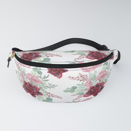 Succulents Pastel Red Pink Mint Green Pattern 2 Fanny Pack