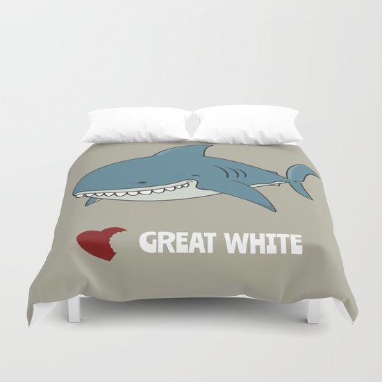 Love Great white Duvet Cover