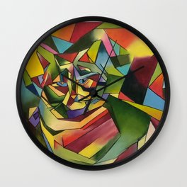 The Cubismo Cat Wall Clock