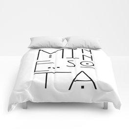 Minnesota Typography Comforters