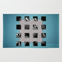 sports Area & Throw Rugs featuring SQUARE AMBIENCE - Blue Sports by INA FineArt