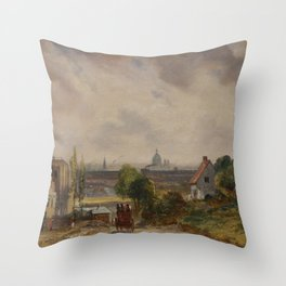 John Constable - Sir Richard Steele's Cottage, Hampstead Throw Pillow