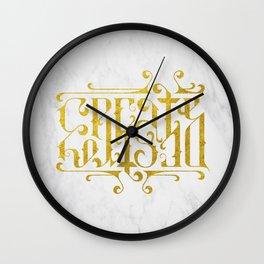 Create Destroy Wall Clock