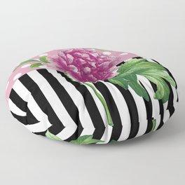 Artsy Pink Peony Floor Pillow