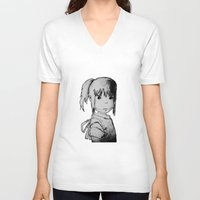 chihiro V-neck T-shirts featuring Remember Your Name (Chihiro) - Sketch by ScoDeluxe