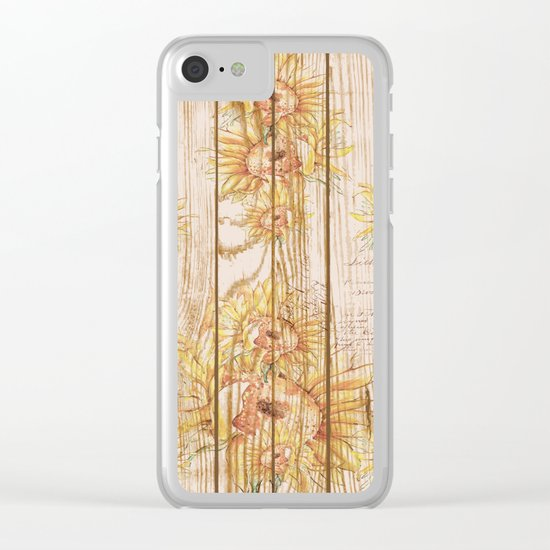 Vintage Sunflowers #9 Clear iPhone Case
