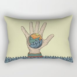Paperboat in the Hand Rectangular Pillow