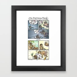 The Depression Fairy Framed Art Print