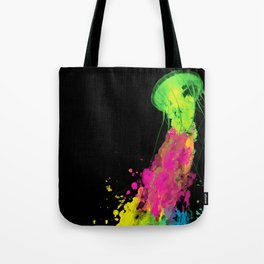 splatter jellyfish Tote Bag