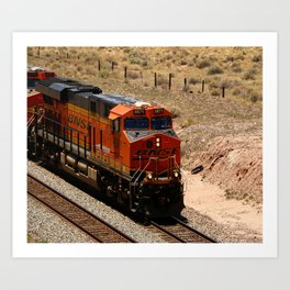 BNSF Engine Art Print