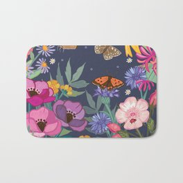 Anemones & Cornflowers Bath Mat