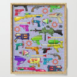 Vintage Toy Guns Serving Tray