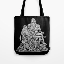 Pieta - from my hand etching Tote Bag
