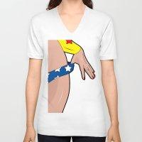 comics V-neck T-shirts featuring sexy comics  by mark ashkenazi