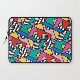 Colorful Memphis Modern Geometric Shapes - Tribal Kente African Aztec Laptop Sleeve