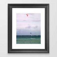 Let's Go Fly a Kite...In The Ocean Framed Art Print