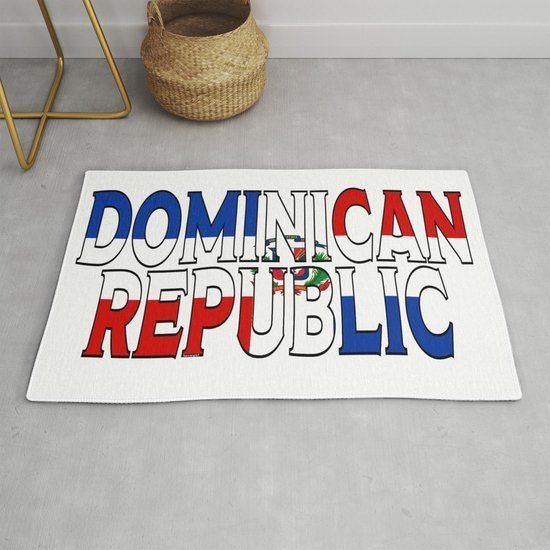 Dominican Republic Font with Dominican Flag by havocgirl